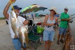Pass fishing, redfish