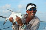 Permit and flyrod in Belize