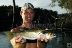 Angler with striped mullet