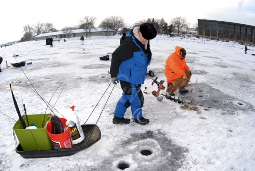 Fishing sled [Ice Fishing-14] : Stock photography by