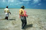 Bonefish anglers spread out